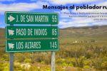 Mensajes al poblador rural